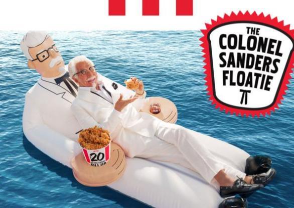 KFC's Colonel Sanders Floatie Giveaway – Stand Chance To Win Colonel Sanders Floatie Prize