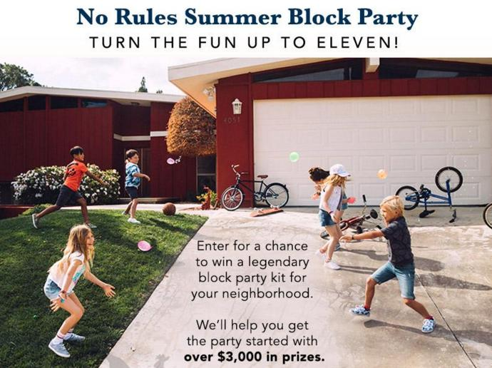 Gymboree No Rules Summer Block Party Sweepstakes – Win Over $3,000 In Prizes