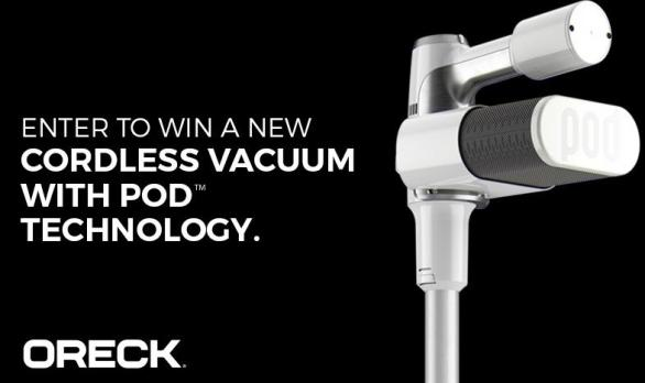 Oreck Cordless Vacuum Sweepstakes – Stand Chance To Win A New Oreck Cordless Vacuum With POD Technology