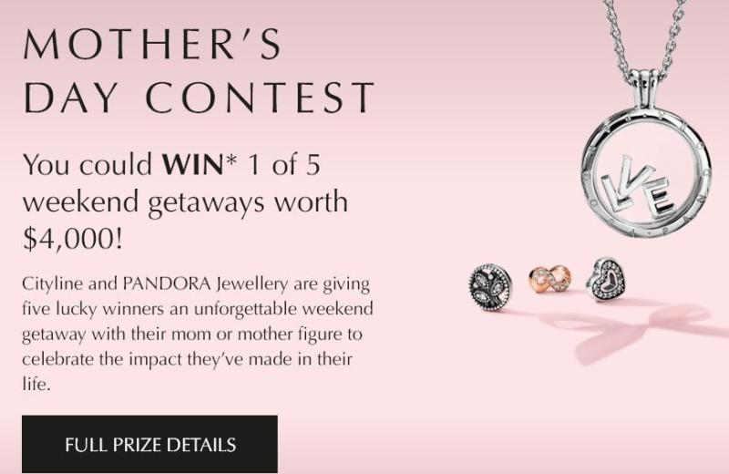 Pandora Mother's Day Contest – Stand Chance to Win A Weekend Trip Prize