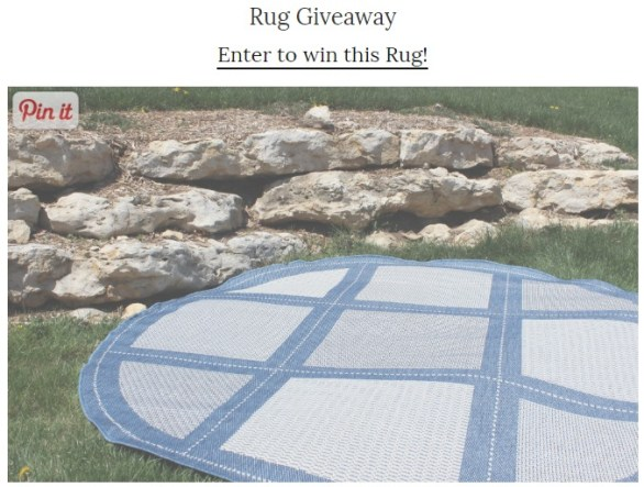 Plush Rugs Giveaway - Enter To Win 7'6'' Round Outdoor Couristan Area Rug