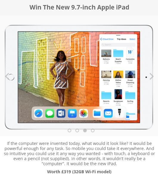 PrizeTopia Apple iPad Giveaway – Stand Chance To Win New 9.7-inch Apple iPad
