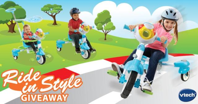 VTech Canada Ride in Style Giveaway – Chance To Win VTech 4-in-1 Stroll & Grow TekTrike