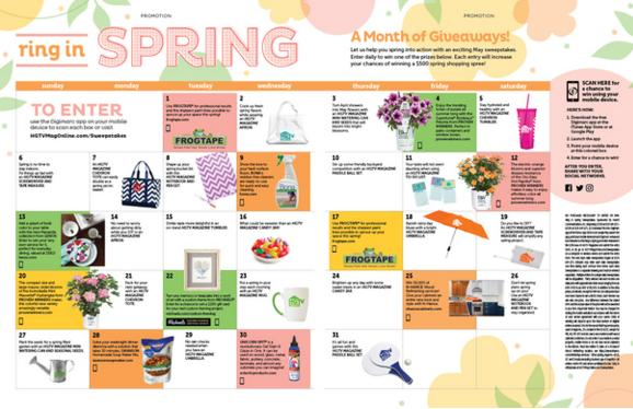 HGTV Magazine Ring In Spring Sweepstakes – Stand Chance To Win Daily Prizes, A $500 Cash