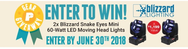 PSSL Blizzard Snake Eyes Giveaway – Stand Chance To Win Blizzard Snake Eyes Mini, 60-Watt LED Moving Head Ligh