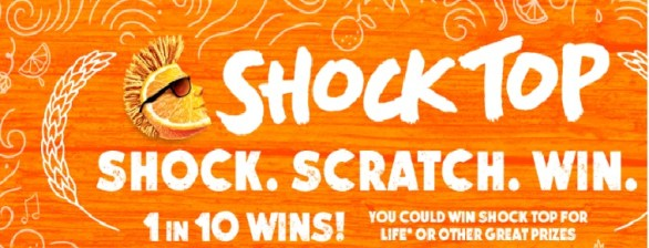 The Shock Top Shock Scratch Win Game Sweepstakes – Stand Chance To Win $5.00 Domino's Credit Prize