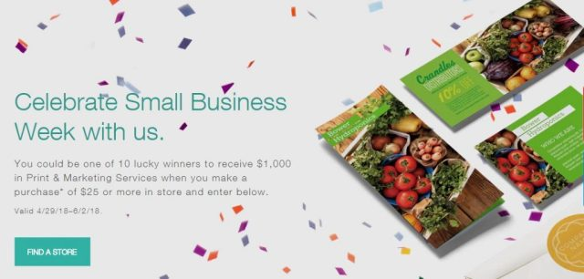 Staples Small Business Week Sweepstakes 2018 - Enter To Win $1,000 in Staples Rewards