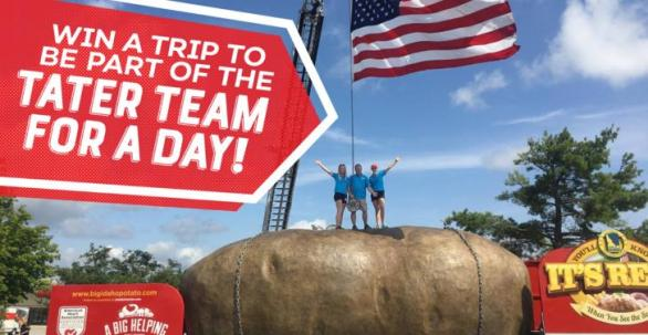 Idaho Potato Commission Tater For A Day Sweepstakes – Stand Chance to Win A Trip To Be A Part Of The Tater Team