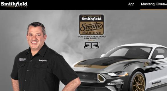 Tony Stewart's Smithfield Smoke Machine Sweepstakes – Stand Chance To Win 2018 Ford Mustang RTR Spec 3, Trip For 2 To Miami, FL