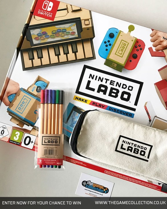 The Game Collection Weekly Competition - Enter To Win Nintendo Labo Variety Kit, Marker Set, Pencil Case