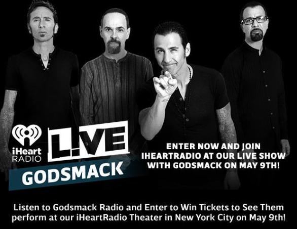 iHeartRadio At Our LIVE Show With Godsmack Sweepstakes – Stand Chance To Win Two Tickets To Join iHeartRadio