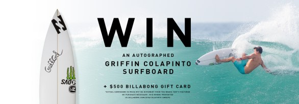 Billabong Griffin Colapinto Surfboard Sweepstakes-Chance To Win One Autographed Surfboard