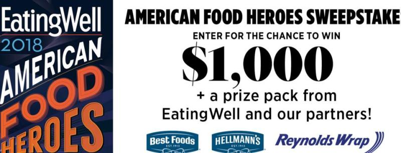 American Food Heroes Sweepstakes – Stand Chance To Win A $1,000, Plus A Prize Pack