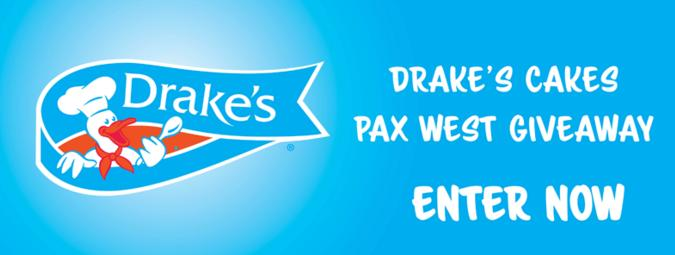 Drakes Cakes PAX West Giveaway – Stand Chance To Win Two PAX West Tickets