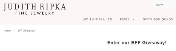 Judith Ripka BFF Giveaway - Chance To Win Two $250 Gift Cards