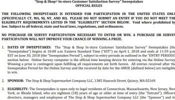 HEB Customer Satisfaction Survey Sweepstakes - Win $100