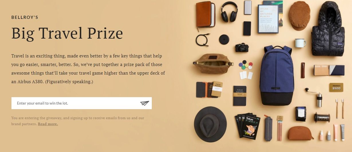 Bellroy's Big Travel Prize Giveaway - Chance To Win Headphones, Blanket, $500 Voucher And Puff Hoody