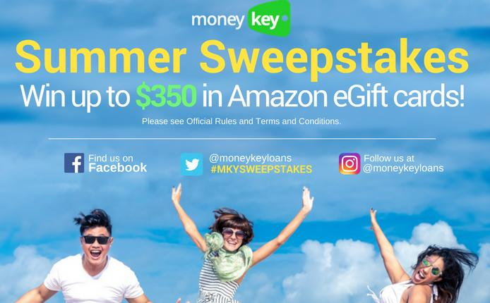 2018 MoneyKey Summer Sweepstakes – Stand Chance To Win $300 USD Amazon Gift Card