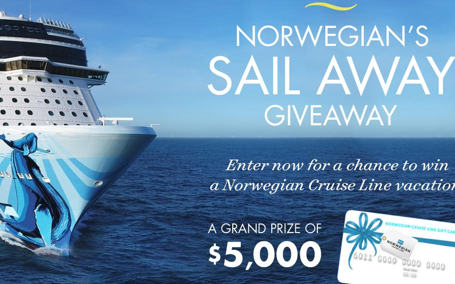 Norwegians Sail Away Giveaway – Win A $5,000 Norwegian Cruise Line Gift Card