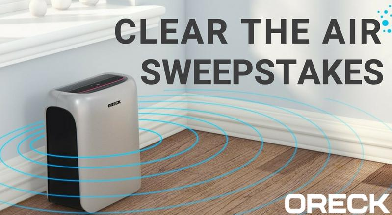 Oreck Clear the Air Sweepstakes – Chance To Win Oreck Air Response Air Purifier Prize