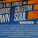Ride The Rock & Roll Express with 3 Doors Down Sweepstakes – Chance To Win Grand Prize To Attend Show In Nashville