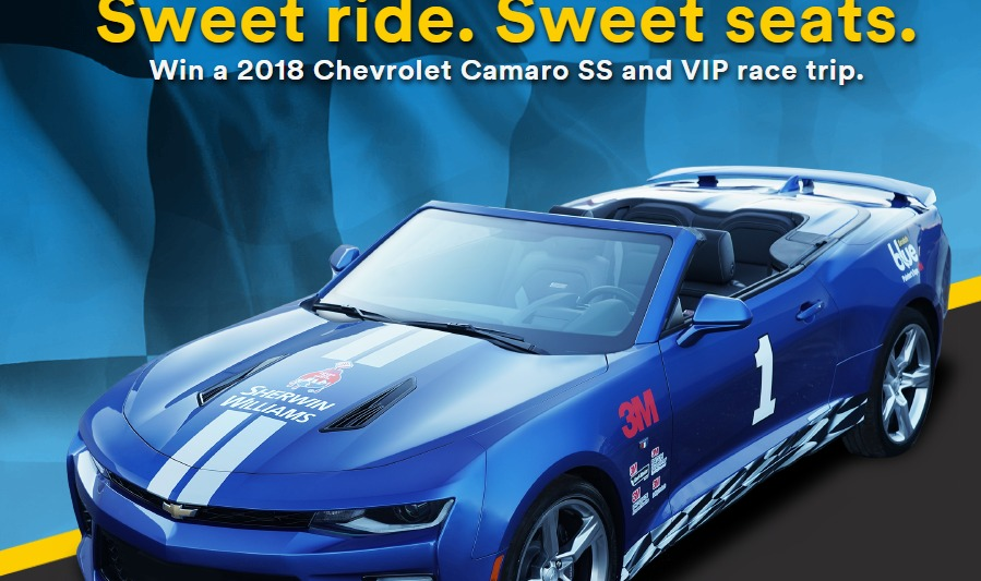 3M Scotchblue Painter's Tape Sweepstakes - Enter To Win A Chevrolet Camaro SS and A VIP Trip