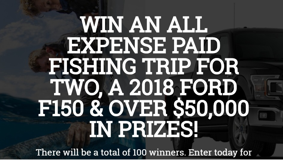 The Fishing Shop Contest - Enter To Win A Trip And A 2018 Ford F150