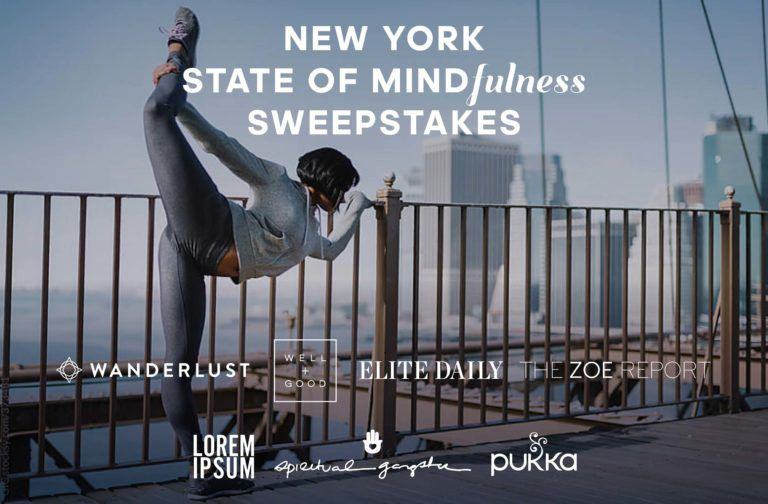 Wanderlust New York State of Mindfulness Sweepstakes - Enter To Win A Trip To The Big Apple
