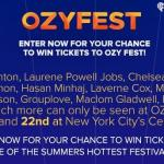 iHeartRadio Tickets To OZY Fest Sweepstakes – Stand Chance To Win A Pair Of VIP 2-Day Passes To OzyFest
