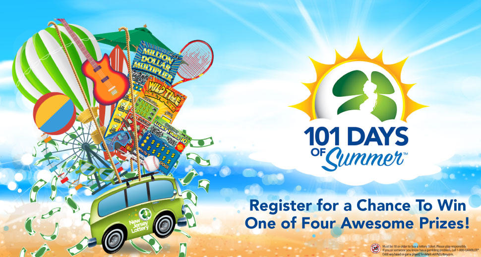 New Jersey Lottery 101 Days Of Summer Sweepstakes - Chance To Win $500 Instant Games