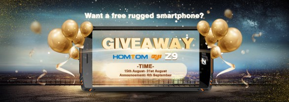 Homtom Zoji Z9 Giveaway - Chance To Win A Free Rugged Smartphone