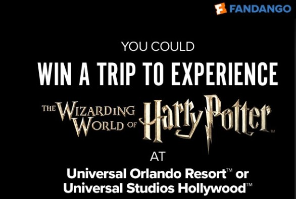 Fandango The Crimes Of Grindelwald Trip Sweepstakes - Enter To Win A Trip to Universal Orlando Resort