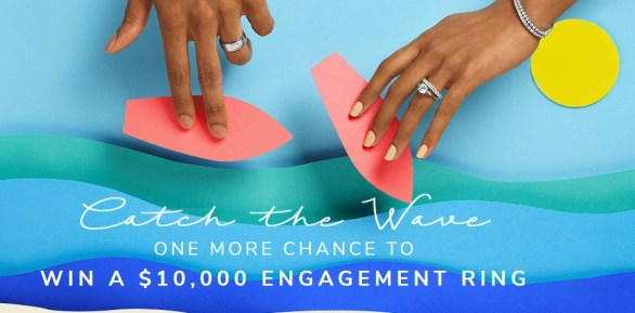 James Allen Catch The Wave Round Two Giveaway - Chance To Win A $10000 Engagement Ring