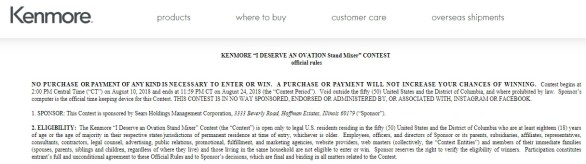 Kenmore I Deserve an Ovation Stand Mixer Contest - Enter To Win A Kenmore Elite Ovation Stand Mixer