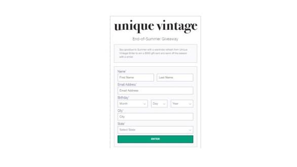 Unique-Vintage-End-Of-Summer-Giveaway