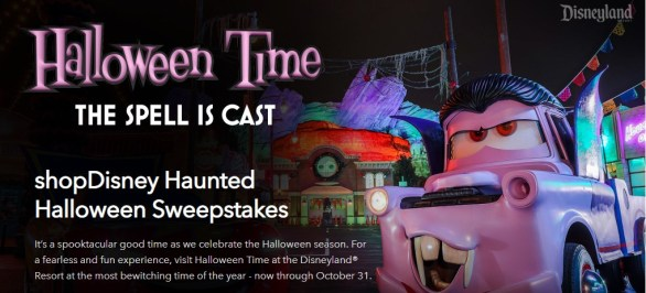 Disney Parks Haunted Halloween Sweepstakes - Stand To Win A Trip To Disneyland
