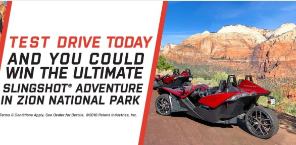 Polaris Adventures Zion National Park Sweepstakes - Chance To Win A $2,000 Gift Card -