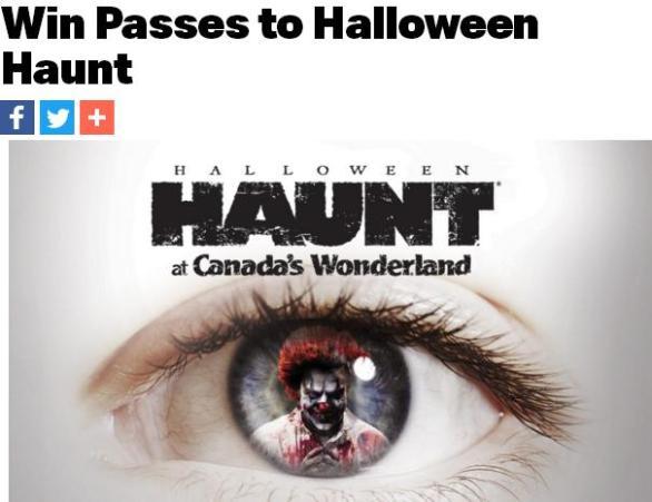 92.5 Passes to Halloween Haunt Contest – Win Passes To Halloween Haunt