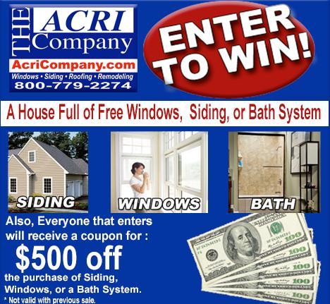Acri Win Free Siding, Windows, Bath System Contest – Win Grand Prize