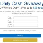 Bizrate Daily Cash Giveaway Sweepstakes – Win Prize Package