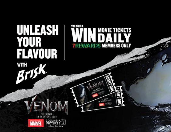Brisk Venom At 7-Eleven Contest – Win Movie Tickets Daily