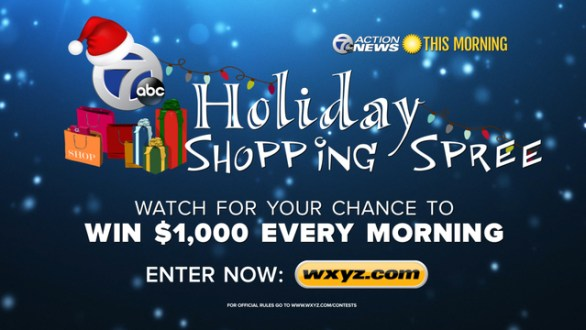wxyz.com Giveaway - Enter To Win 7's Holiday Shopping Spree $1000 a day -