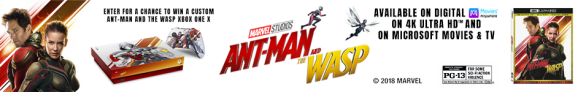 Microsoft Xbox Ant-Man and the Wasp Sweepstakes - Stand To Win Xbox One X Console and 4K Disc