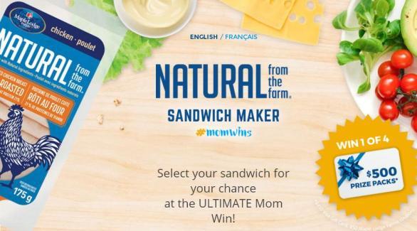 Maple Lodge Farms Sandwich Maker Contest – Win 1 of 4 $500 Prize Packs
