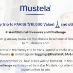 Mustela #IWantNatural Challenge Giveaway – Win A Trip To Paris