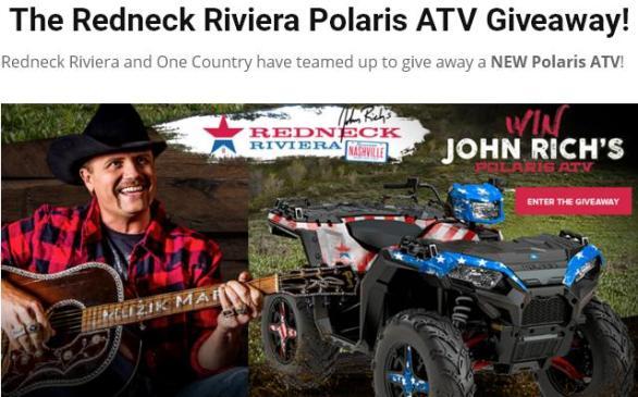 Redneck Riviera Polaris Giveaway – Win A 2018 Polaris Sportsman 1000 XP