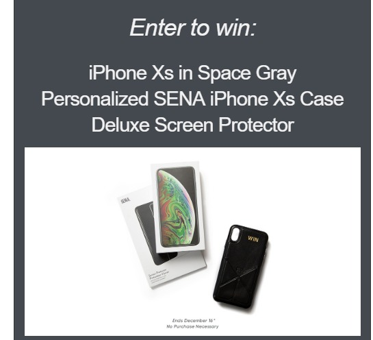 Sena Cases Contest - Chance To Win Apple iPhone Xs 64GB And Screen Protector