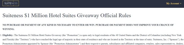 Suiteness $1 Million Hotel Suites Giveaway - Enter To Win $1000000 USD Suiteness booking credits