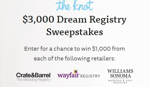 Crate And Barrel Wedding Registry.The Knot 3 000 Dream Registry Sweepstakes Win 1 000 Crate
