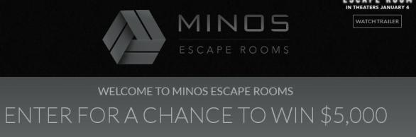 The Minos Escape Room Sweepstakes – Win $5,000 USD CheckThe Minos Escape Room Sweepstakes – Win $5,000 USD Check